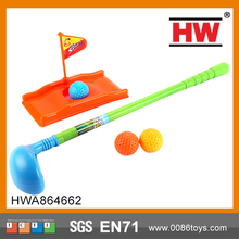 Funny Children sport toy plastic golf toy set mini golf putters