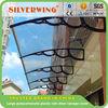 Large polycarbonate plastic door canopy, sun shade window awning