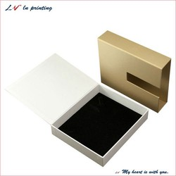 Custom handmade square shape velvet jewelry gift box/ high quality recyclable exquisite paper jewellery box wholesale