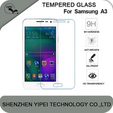 Factory Price 9H Hardness 2.5D Tempered Glass Screen Protector For Samsung Galaxy A3 A3000,Screen Protector For A3