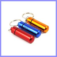 2 inch Long 10ml Capacity Pill Bottlle Holder Aluminium Pill Holder Keychain
