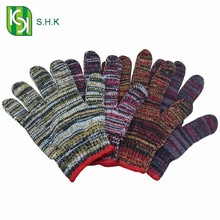 Colorful knitting gloves / cotton knitted safety gloves direct buy china