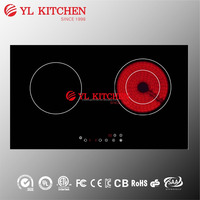 4200w 2 burners dual zone built-in induction and infrared Hob