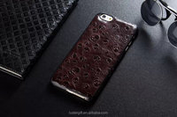 Christmas gift Genuine Cowhide Leather Case for iPhone 6 4.7inch Back Cover with 3D skull Pattern,Cell phone Genuine Cowhide