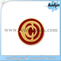 2014 Customized gold plating enamel badge pin,nurse badge holders,novelty paper clip holder