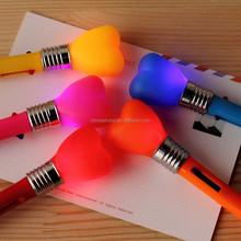 Cartoon light ball pen for gift