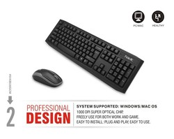 HAVIT 2.4GHz wireless keyboard and mouse for computer
