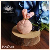 Handmade Lace Hair Clip Set Jungle Rabbit Hair Clip, Baby/Girl Christmas Wool Felt Hair Clip