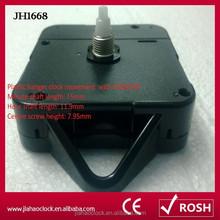 JH1668 quartz plastic hanger clock movement for wall clock