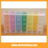 Plastic 28 Compartments 7 Day Pill Box