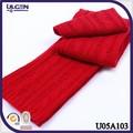 bufandas tejida de lana con color sólido bufandas en crochet