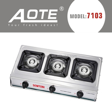 cheap price three burner gas cooking
