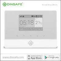 Smart intruder alarm system for home security, controlled by iOS Android APP