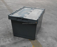 plastic stackable and nestable container with lid