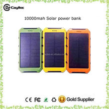Shenzhen cheap portable waterproof solar power bank 10000 mah for all kinds of smart phones
