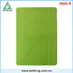 Tablet covers cases for iPad mini 234, for iPad mini 4 Smart cover folding Stand leather case for iPad mini 2 3 4