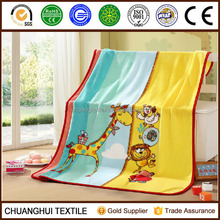 super soft coral fleece printing blanket baby with cartoon pattern