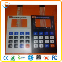 metal dome printing flexible membrane switch for printed circuit board with touch screen