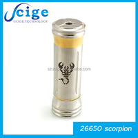 2015 best price high quality 26650 scorpion on sale from ucige