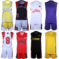 Wholesale short sleeve basketball jersey crew neck international team cheap custom sublimated basketball uniforms