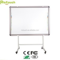 "Riotouch 82"" OEM CE FCC ROHS 3 Year Warranty Free Teaching Software Mobile Stand Multi Touch IR Interactive Whiteboard 82"