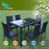 7 Pcs Baroque Heavy-duty Dining Table and Chairs Sets / Brand New Classic Rattan Dining Table Set