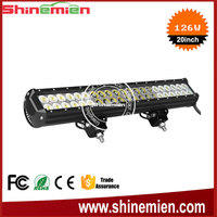 Truck accessories 126w led light bar 20 inch double row led light bar for offroad trucks