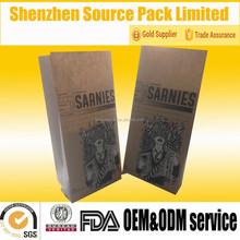 Quad Seal Coffee Bag Kraft Paper Coffee Packaging Bag/Kraft Paper Bag for Roasted Coffee