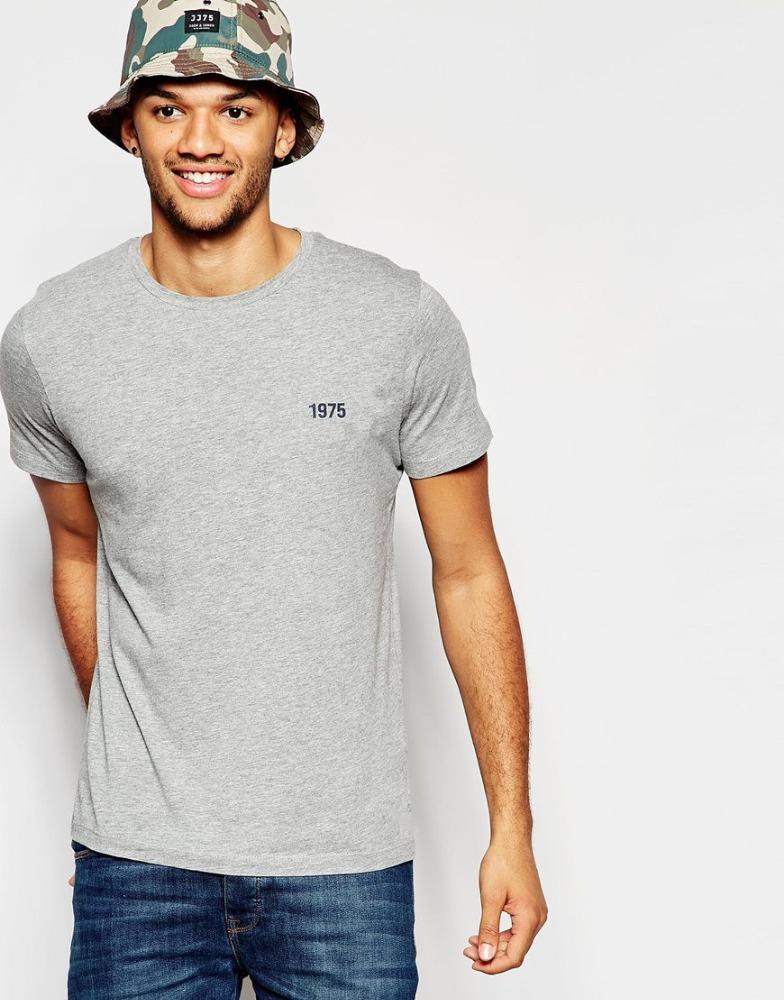 Crew neck bamboo t shirts cotton men 39 s plain blank t shirt for High quality plain t shirts wholesale