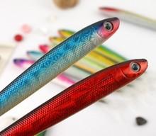 ball pen with highlighter,baoer roller ball pen,fish shape ball pen