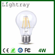 China Alibaba Express CRI 90 Meanwell Driver 4W 6W LED filament bulbs with 2 years Warranty