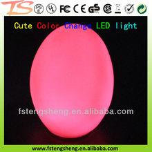 China 2014 RGB color changing LED plastic surprise light up magic eggs