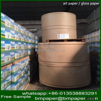 white color 70-400gsm glossy art paper