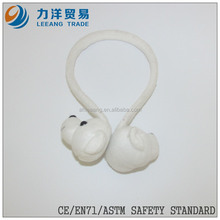 Plush earmuff toy(white color bear model), Customised toys,CE/ASTM safety stardard