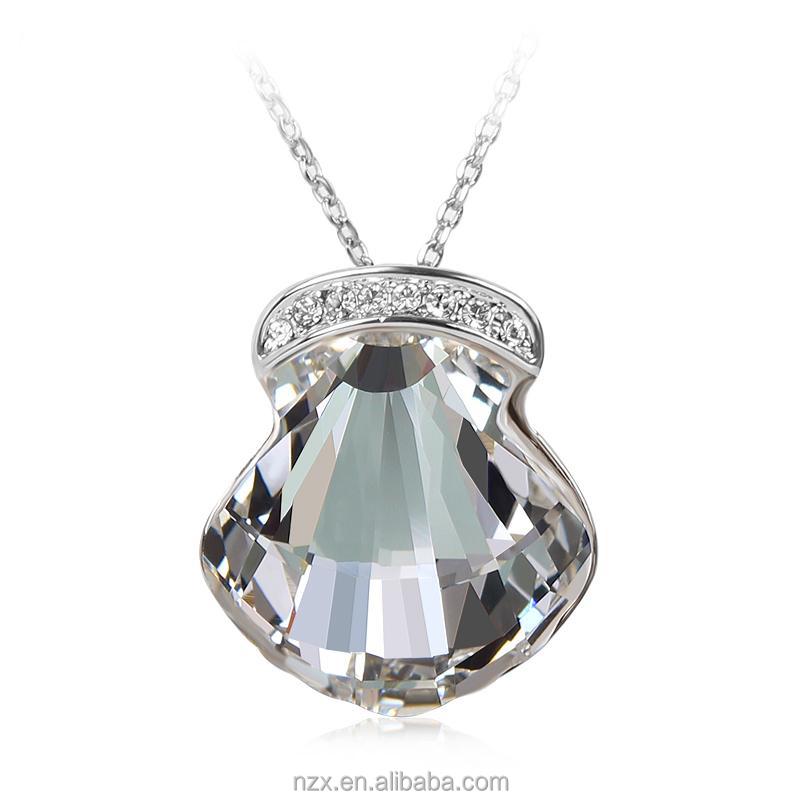 OUXI fashion jewelry wholesale Austria crystal shell zinc alloy plated