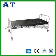 Triple-folding hospital nursing bed with PVC mattress