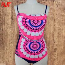 colored circles printed beachwear sarong for girls in tropical beach