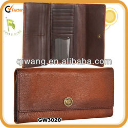 GW3020 Full grain wallet geunine lamp leather pouch and bag