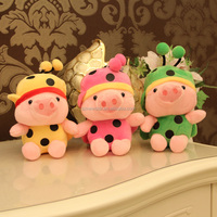 OEM 18cm Plush toy cut pig Honey bees plush toy for christmas gift