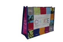 2015 promotional PP woven laminated tote hand bag