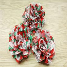 Large chiffon rose flower lace for baby girls hair headband,made christmas party wedding decoration flowers DIY hair elastic FOE