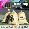 Yason hdpe stripped color plastic bag draw string trash bag trash bag on roll