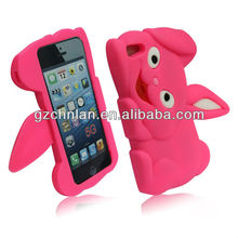 New design rabbit silicon 3d animal phone case