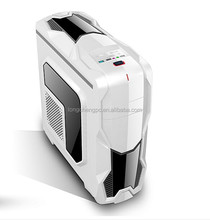 whole white colorful gaming case/gaming atx computer case/desktop gaming pc case with LED Blue fan