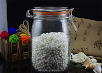 1050ML Wholesale clear airtight glass jar with metal clip/food glass jar with metal clip lid/