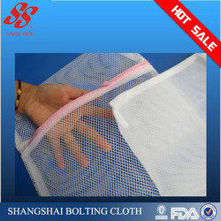 Easy carry high quality square polyester mesh laundry bag for socks