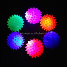 6.5cm rubber LED flashing ball led flashing bouncing ball jumping ball for children