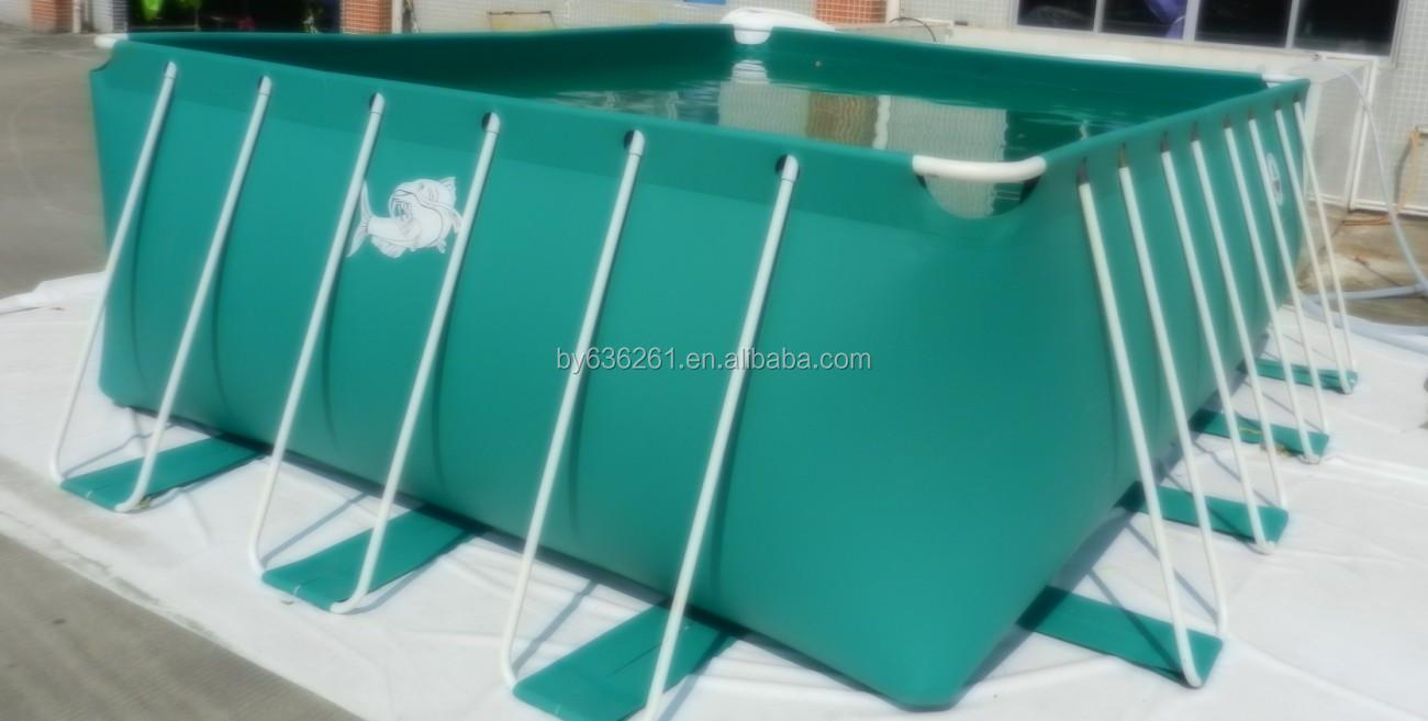 Flex vel pl stico peixes da lagoa para piscicultura ao ar for Piscina rigida rectangular