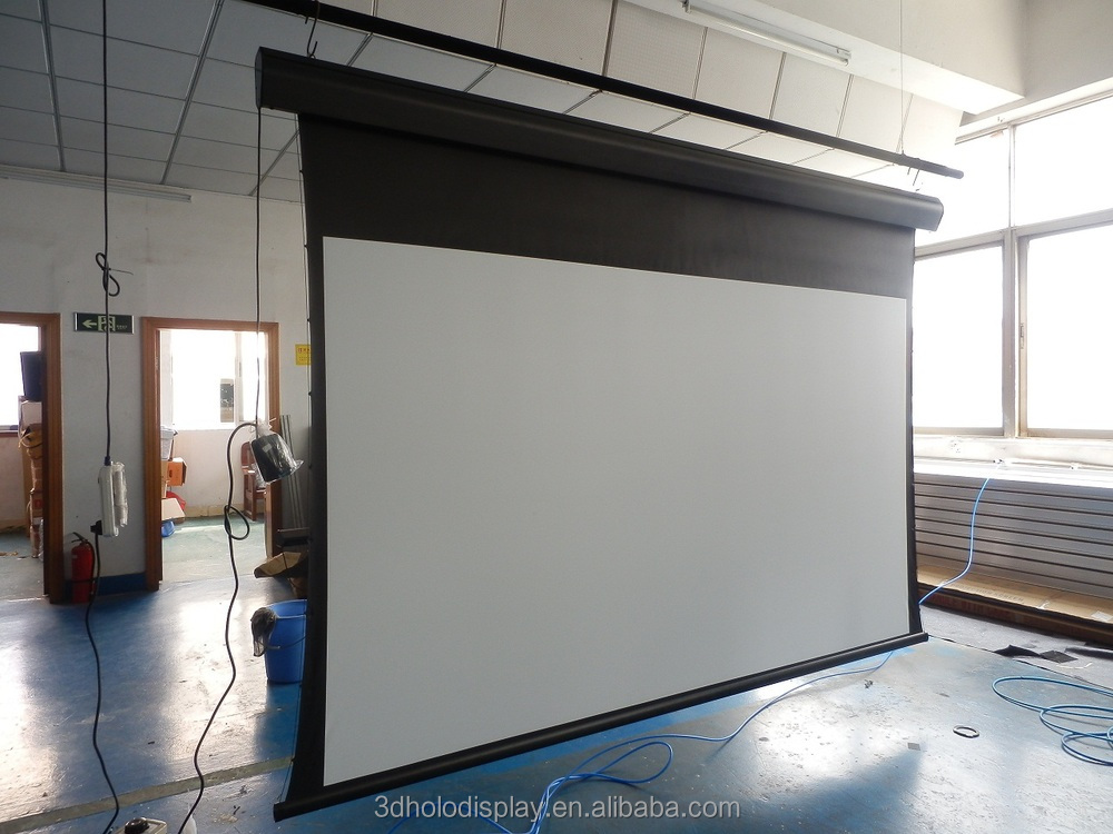 big size electric projection screen tab tens motorized