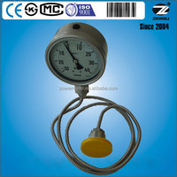 4 inch diameter capillary diaphragm gas meter for corrosion proof could customize dial